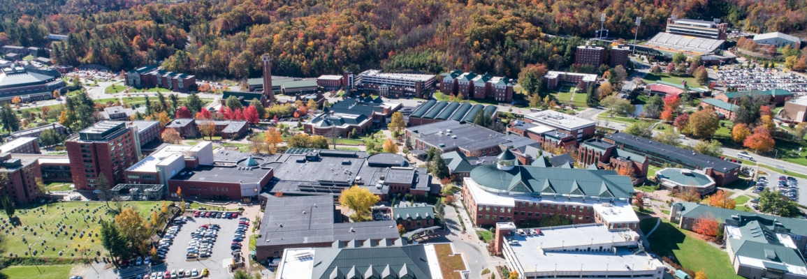 Drone overview of campus